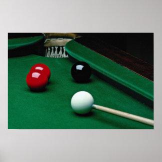Snooker equipment poster