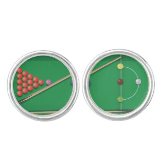 Snooker game cufflinks