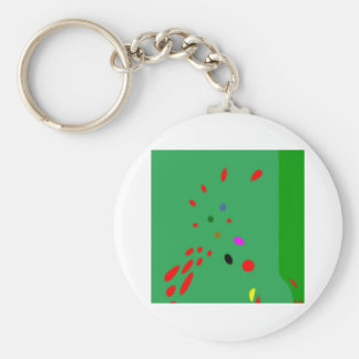 Snooker is the thing basic round button key ring