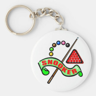 Snooker Pool Basic Round Button Key Ring