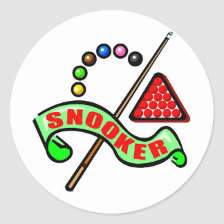 Snooker Pool Classic Round Sticker