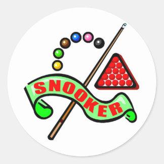 Snooker Pool Round Sticker