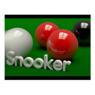 Snooker Postcard