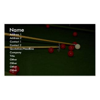 Snooker shot pack of standard business cards