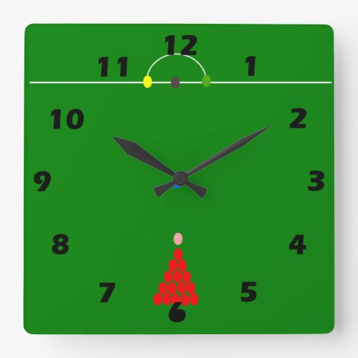 Snooker Table Square Wall Clock