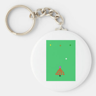 snooker the game basic round button key ring