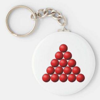 Snooker Triangle Key Ring