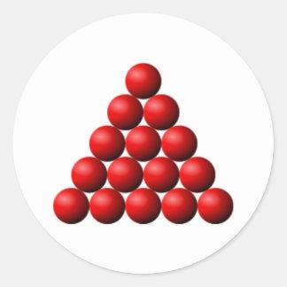 Snooker Triangle Round Sticker
