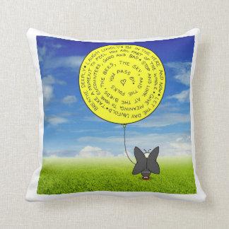 Snootch's Balloon Throw Pillow