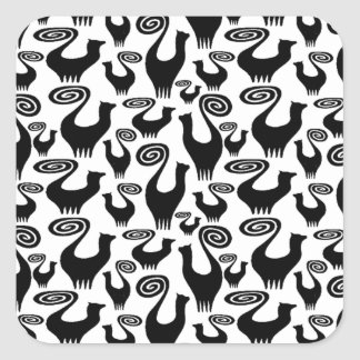 SNOOTY CAT SCATTER LARGE POSTER.jpg Square Sticker