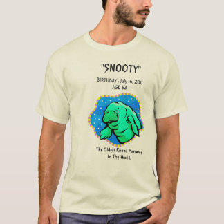 """Snooty"" Manatee 63rd Birthday T-Shirt"