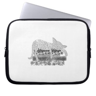 Snoozing Cat Laptop Sleeve