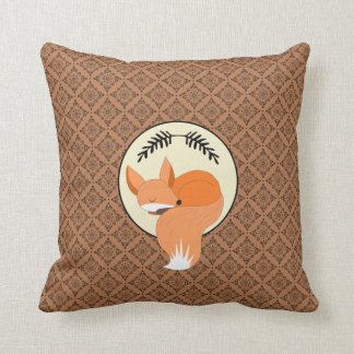Snoozing Fox Woodland Cushion
