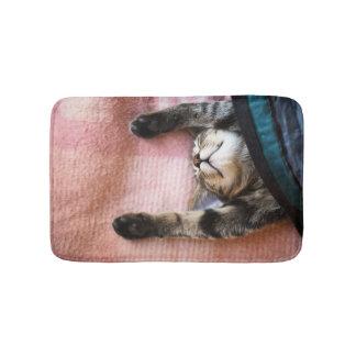 Snoozing Kitten Bath Mat
