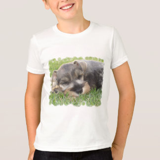 Snoozing Schnauzer Kid's T-Shirt
