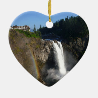Snoqualmie Falls Washington Christmas Ornament