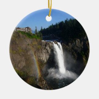 Snoqualmie Falls Washington Christmas Ornament