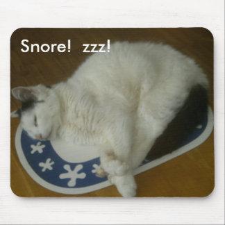 Snoring Cat Mousemat
