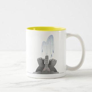 Snoring Elephant Two-Tone Coffee Mug