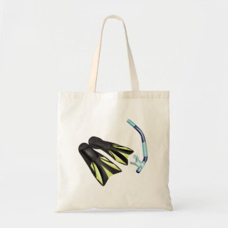 Snorkel And Flippers Tote Bag