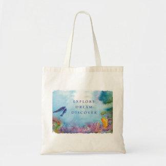 Snorkel Couple Tote Bag