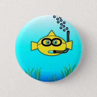 Snorkel Fish 6 Cm Round Badge