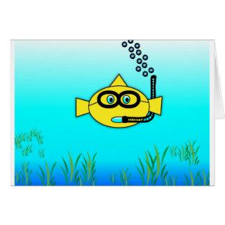 Snorkel Fish Card