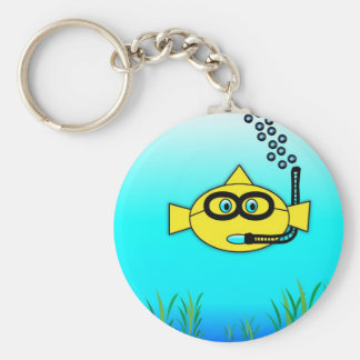 Snorkel Fish Key Ring