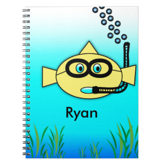 Snorkel Fish with Name Notebook