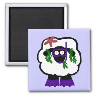Snorkel Sheep Magnet