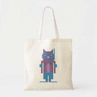 Snorkel Swimmer Cat Pixel Art Canvas Bags