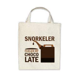 Snorkeler (Funny) Chocolate Tote Bags