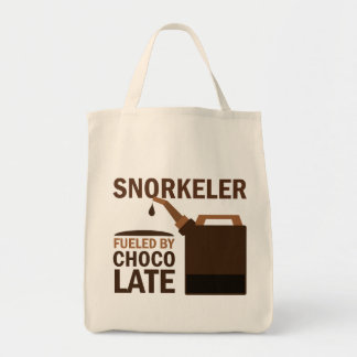 Snorkeler (Funny) Chocolate Grocery Tote Bag