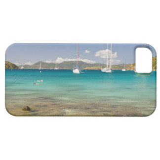 Snorkelers in idyllic Pirates Bight cove, Bight, iPhone 5 Case