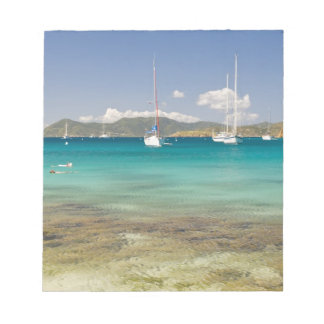 Snorkelers in idyllic Pirates Bight cove, Bight, Notepad