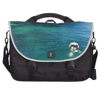 Snorkeling at Paradise Laptop Messenger Bag