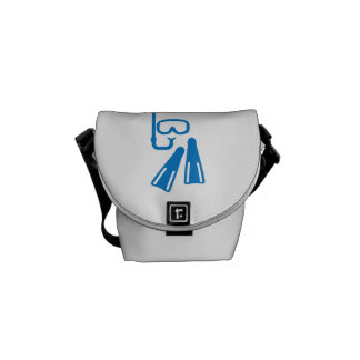 Snorkeling equipment messenger bag