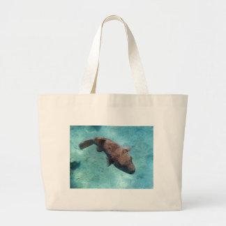 snorkeling in the red sea jumbo tote bag