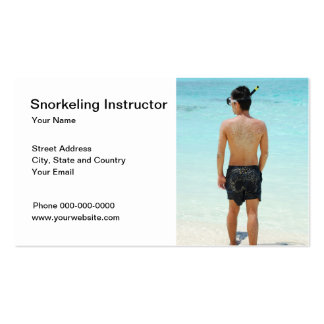 Snorkeling Instructor Business Card Business Cards