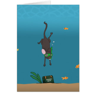 Snorkeling Mouse Card