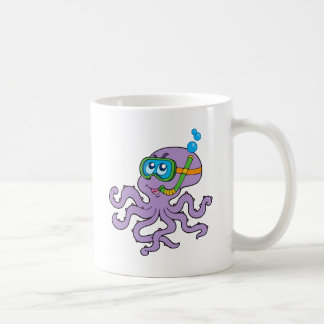 Snorkeling Octopus Coffee Mug