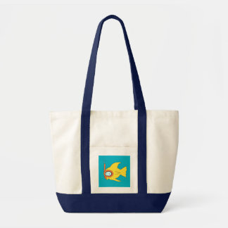Snorkeling Swimming Yellow Fish Impulse Tote Bag