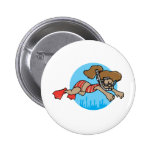 Snorkelling Girl Buttons