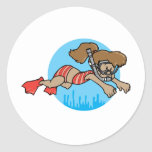 Snorkelling Girl Stickers