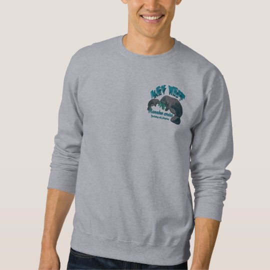 Snorkelling with manatees sweatshirt
