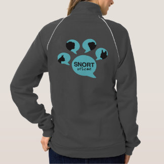 """SNORT """"be their voice"""" paw zip up Jacket"""