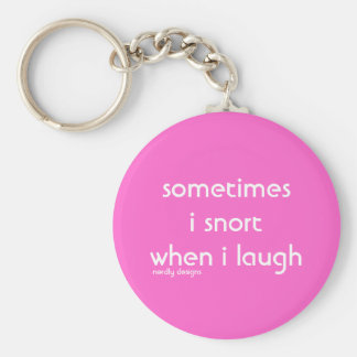 snort laugh keychain
