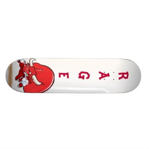 snorting-red-bull skate board deck