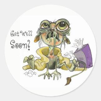 Snot Goblin Get Well Soon! Round Sticker