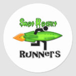 Snot Rocket Runners Round Stickers
